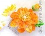 Уважаемые мастера - изготовители канзаши, может кто-нибудь подсказать, каким образом складываются лепестки у данного цветка? фото 2