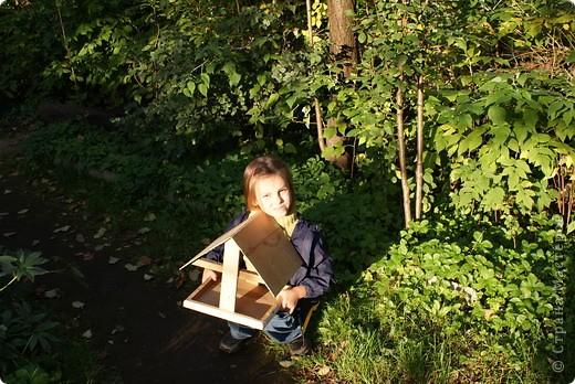 Вот такая кормушка для птиц, самодельная, используется по назначению осенью и зимой.  фото 8