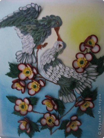 Вот такая картина с голубками у меня получилась. Прям любовь и голуби. Размер работы 30 на 40 см. фото 10