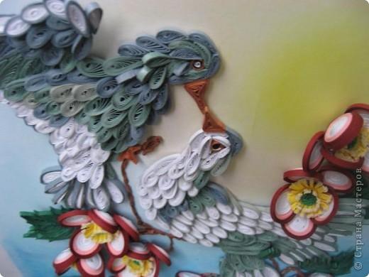 Вот такая картина с голубками у меня получилась. Прям любовь и голуби. Размер работы 30 на 40 см. фото 6