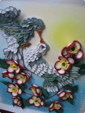 Вот такая картина с голубками у меня получилась. Прям любовь и голуби. Размер работы 30 на 40 см. фото 5