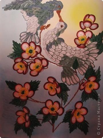 Вот такая картина с голубками у меня получилась. Прям любовь и голуби. Размер работы 30 на 40 см. фото 9