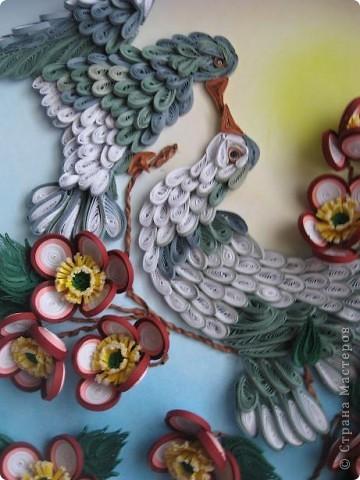 Вот такая картина с голубками у меня получилась. Прям любовь и голуби. Размер работы 30 на 40 см. фото 2