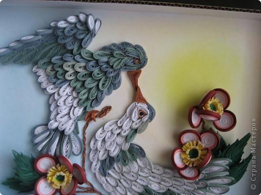 Вот такая картина с голубками у меня получилась. Прям любовь и голуби. Размер работы 30 на 40 см. фото 3