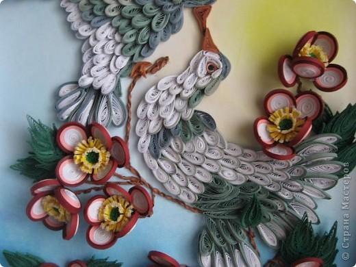 Вот такая картина с голубками у меня получилась. Прям любовь и голуби. Размер работы 30 на 40 см. фото 4