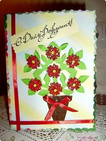 Попробовала делать открытки своими руками, насмотревшись красоты в любимой стране. Первую сделала в подарок дочке моей подруги. Воспользовалась шаблоном  http://stranamasterov.ru/node/168182?c=favorite Спасибо masha!  фото 1