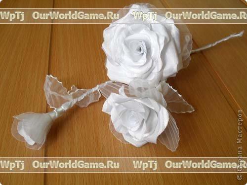 Розы из ткани фото 4