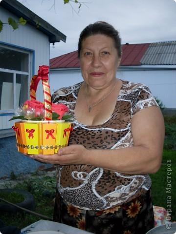 Вот такая корзиночка из конфет у меня получилась! фото 3