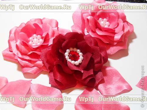 Розы из ткани фото 3