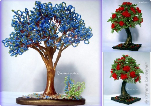 Напоследок решила сделать деревья с такими экзотическими названиями))  фото 1