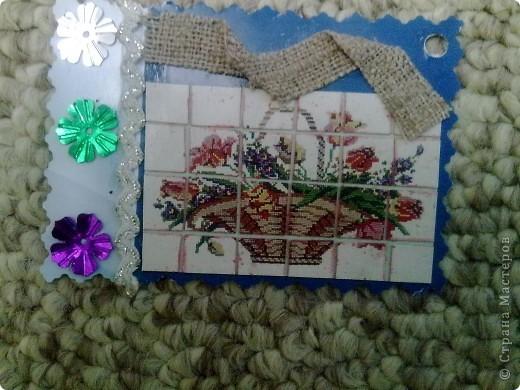 Осваиваю и осваиваю новые техники, подсмотренные у мастериц. Здесь использован метод мозаики: картинку разрезаем и складируем обратно. фото 5