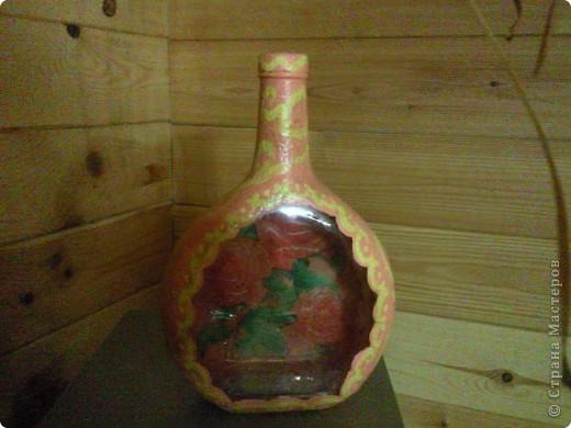Декорированная бутылочка фото 1