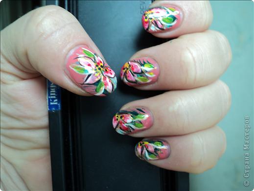 Хотелось показать новые работы с росписью ногтей. На ноготках сложнее рисовать из-за того, что площадь маленькая, особенно на натуральных. фото 2