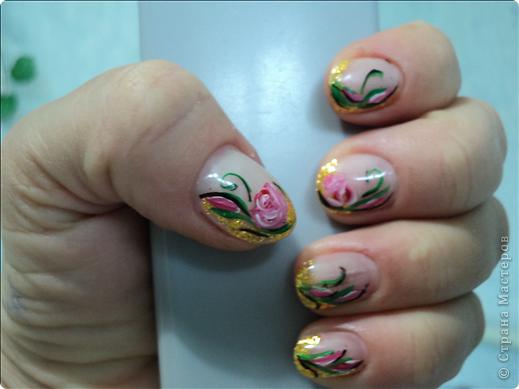 Хотелось показать новые работы с росписью ногтей. На ноготках сложнее рисовать из-за того, что площадь маленькая, особенно на натуральных. фото 4