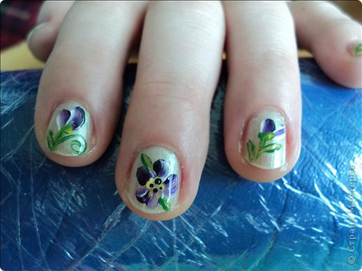 Хотелось показать новые работы с росписью ногтей. На ноготках сложнее рисовать из-за того, что площадь маленькая, особенно на натуральных. фото 6