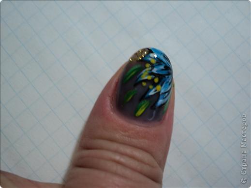Хотелось показать новые работы с росписью ногтей. На ноготках сложнее рисовать из-за того, что площадь маленькая, особенно на натуральных. фото 8