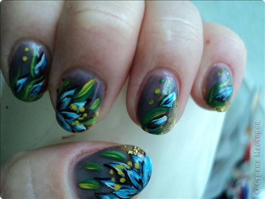 Хотелось показать новые работы с росписью ногтей. На ноготках сложнее рисовать из-за того, что площадь маленькая, особенно на натуральных. фото 9
