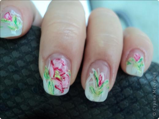 Хотелось показать новые работы с росписью ногтей. На ноготках сложнее рисовать из-за того, что площадь маленькая, особенно на натуральных. фото 7