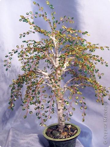 Мои деревья из бисера фото 10