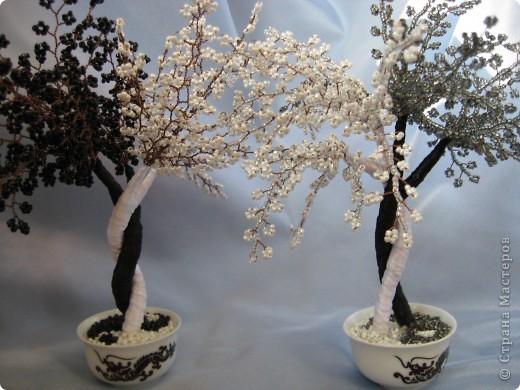 Мои деревья из бисера фото 5