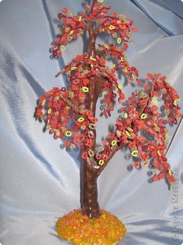 Мои деревья из бисера фото 6