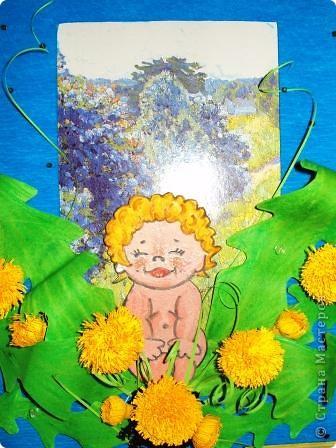 малышку рисовала акварелью, вырезала и клеила на объёмный двусторонний скотч. фото 1