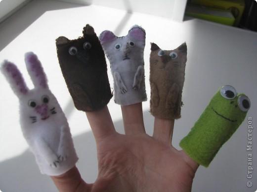Ну а это пальчиковый театр из флиса для сынульки моего. Ему нравится одевать их на свои малюсинькие пальчики :) Ему вот вот исполнится 2 года :)  фото 7