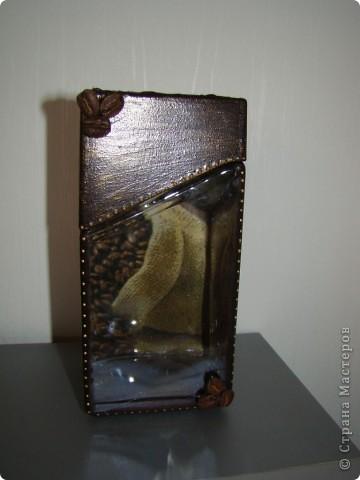 """ваза """"счастье"""" пока без лака. грунт. структурная паста, салфетка, пасту пошкурила, покрасила, прошлсь интерферентной краской и чуть темно-коричневой. фото 8"""
