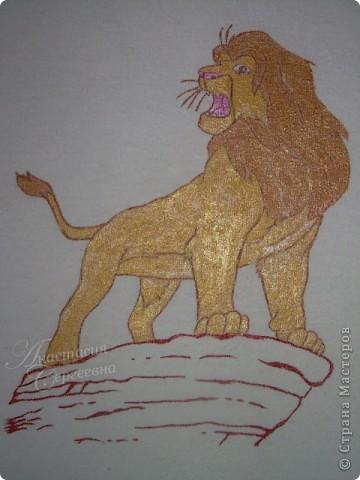 "Рисунок на маечке ""Король лев"" фото 1"
