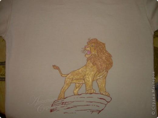 "Рисунок на маечке ""Король лев"" фото 2"