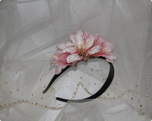 """Ободок """"Тропический цветок"""" фото 4"""