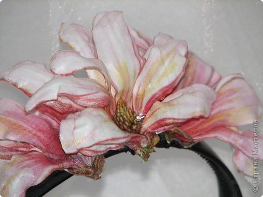 """Ободок """"Тропический цветок"""" фото 3"""