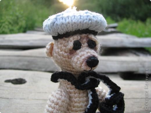 Всем здравствуйте  Начну свой блог вот с такого Мишки, связанного мной :) фото 2
