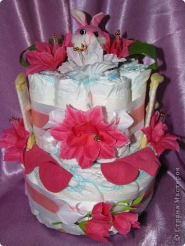 Тортик из памперсов фото 1
