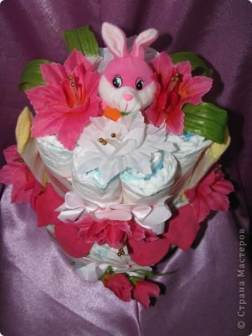 Тортик из памперсов фото 3