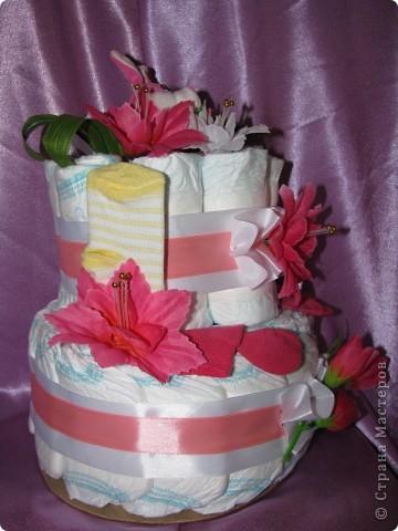 Тортик из памперсов фото 4