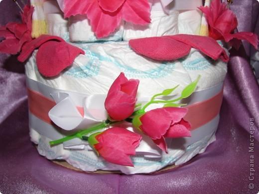 Тортик из памперсов фото 5