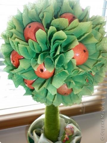Вот такая яблонька у меня получилась-делала вот по этому МК http://stranamasterov.ru/node/138019 - спасибо мастеру огромное! фото 2
