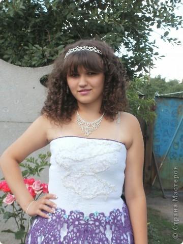 Вязаное платье на выпускной в детский