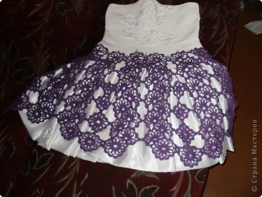 Вязаное платье крючком схема (31