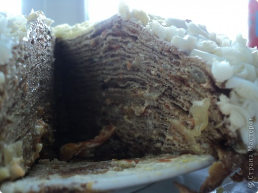 Это печеночный торт, на любителя конечно...но очень вкусно!!!!!!!!! фото 3