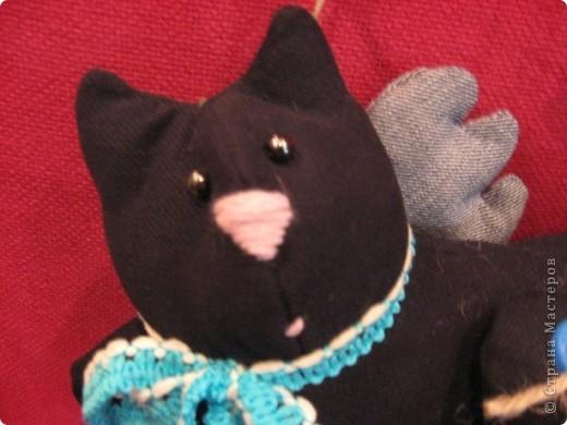 И снова-здравствуйте!!!! Хочу показать вам ещё один подарок для психолога Светланы.  Её талисман-чёрный кот. Вот по этому мой мягкий дружок такой чёрненький :))) фото 2