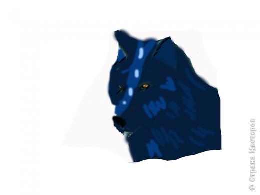 Рисунок волка в фотошопе