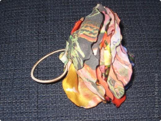 Розочки из ткани фото 3