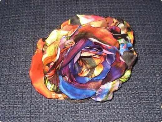 Розочки из ткани фото 4
