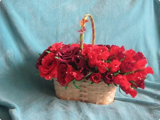Корзина роз для любимой свекрови фото 2