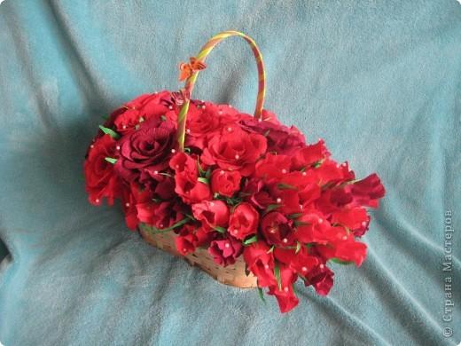 Корзина роз для любимой свекрови фото 1