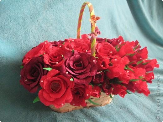 Корзина роз для любимой свекрови фото 3