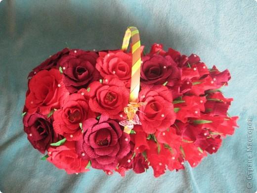 Корзина роз для любимой свекрови фото 4
