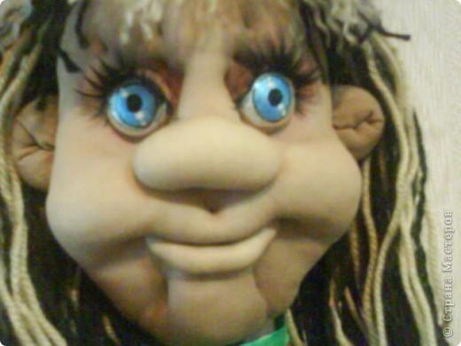 Моя первая кукла по МК pawy,огромное ей спасибо!Правда она здесь без макияжа,сейчас нарумянена и губешки подкрашены. фото 2